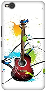 The Racoon Grip Colours Of Guitar hard plastic printed back case / cover for HTC One X9