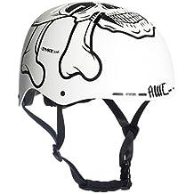 AWE® MEET YOUR MAKER™ BMX Blanco 55-58cm del casco REEMPLAZO LIBRE de 5 AÑOS del CRASH *