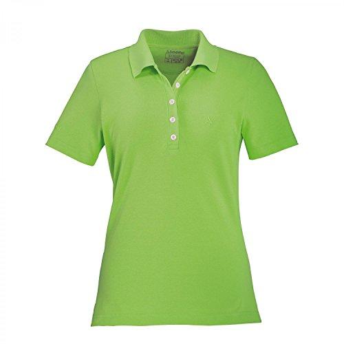 Schöffel 10697 - Maglietta da donna modello polo Gardia Verde lime brillante