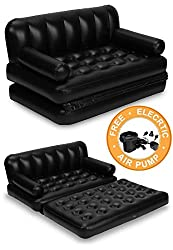 BESTWAY 5 IN 1 INFLATABLE SOFA CUM BED AIRBED COUCH AIR LOUNGE+ FREE Electric Air Pump