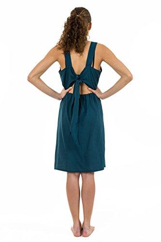 - Robe summer dos original petrol blue Badamasa - Bleu