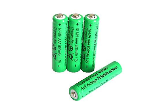 Solar-Akku 4 er Set,leistungsstarke, wiederaufladbare Batterien AAA NiMH