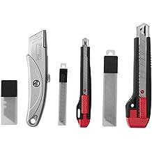 POWERFIX Cutterset, 33-teilig - Für Schneidearbeiten in Teppich, Pappe, Karton und