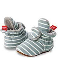 Sabe Baby Boys Girls First Walking Shoes Warm Fleece Ankle Booties Soft Sole Unisex Strap Slippers First Pram Non-Skid Winter Infant Shoes Christmas Birthday Gift