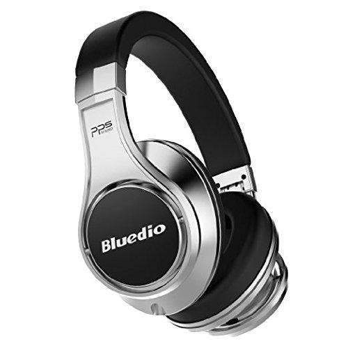 Bluedio U (UFO) Cuffie Bluetooth Auricolari Bluetooth Cuffie Wireless&Wired Over-Ear con Microfono (Nero-Argento)