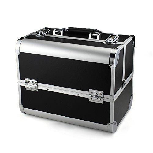 Glow Vanity/ Beauty case/ Maquillage Sac/ Trousse de toilette/ Cosmétique Organisateur (Noir Plain)