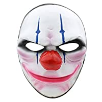 Package Includes payday2 Dallas/lupo/catene/Houston, o le maschere tutte le 4 parti Taglia unica. Questa maschera si adatta per la maggior parte degli adulti/bambini capi Perfetta per feste in maschera, regali, feste in costume, carnevale, Na...