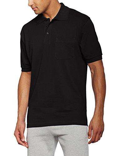 James & Nicholson Herren Poloshirt Schwarz (Black)