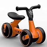 Laufräder Kinder Scooter 1.5-4 jährige vierrädrigen Walker schiebe-Auto ohne fußpedal-orange 23Zoll