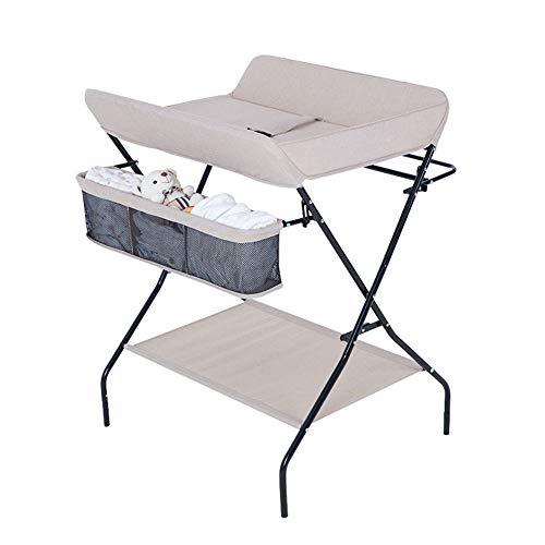 Table De Couche-culotte De Changement De Bébé Nouveau-né Table De Soin Pliable Pour Soins De Bébé Console De Massage Multifonctionnelle