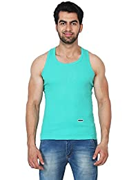 Trenders Sleevless Turqoise color T Shirt in Rib Fabric