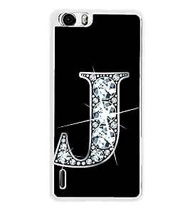Alphabet J 2D Hard Polycarbonate Designer Back Case Cover for Huawei Honor 6