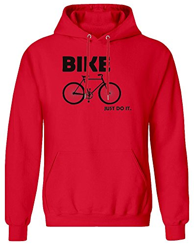 Bike Just Do It Hoodie Sweatshirt for Men - 80% Cotton, 20% Polyester - High Quality DTG Printing - Custom Printed Clothing for Men