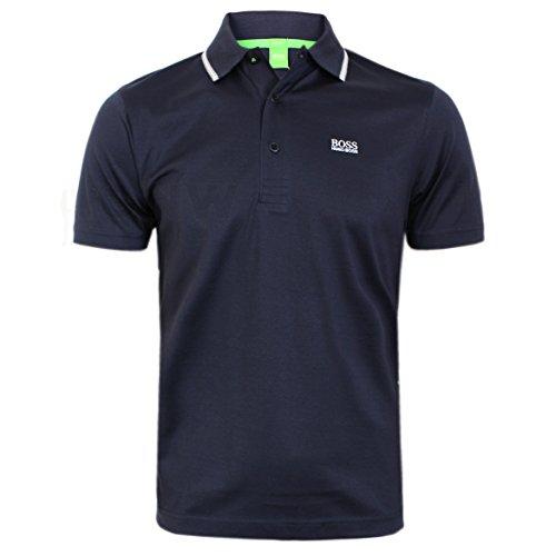 hugo-boss-polo-uni-col-chemise-classique-homme-noir-noir-et-blanc-xl-bleu-x-large