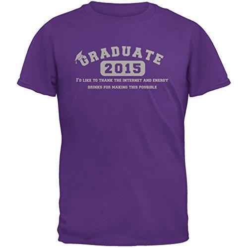 Graduate Internet Energy Drink Funny Graduation Purple Adult T-Shirt