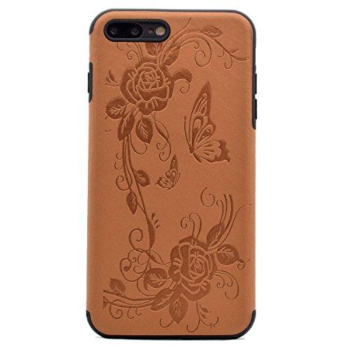 Custodia inShang cover per iPhone 7 Plus 5.5 Cellulare,super slim e leggero TPU materiale Cover posterior stili per iPhone7 Plus 5.5 inch Brown butterfly flower