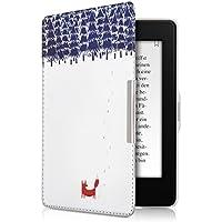 kwmobile Elegante borsa di ecopelle per il Amazon Kindle Paperwhite in Design volpe marrone blu (Marrone Ecopelle Borsa Borsa)