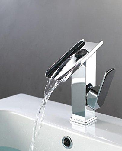 Makej Ein Neuer Bau & Immobilien Chrome Bad Becken Spüle Wasserhahn Deck Montieren Schiff Wasserfall Mixer Tap - Immobilien Bad