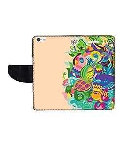 KolorEdge Printed Flip Cover For Apple IPhone 5 Multicolor - (43KeMLogo11481IPhone5)