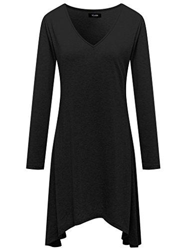 Wantdo Femme Fond de Robe Décontracté Veste Lâche été Mode Casual Noir X-Large