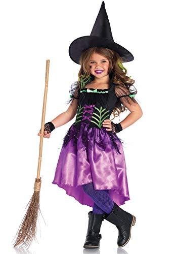 Leg Avenue Kinder Mädchen Kostüm Glänzendes Hexenkostüm L 10-12 Jahre