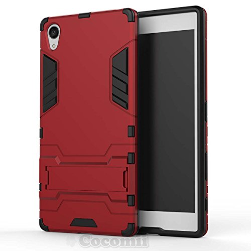 Sony Xperia Z5 Premium Funda, Cocomii Iron Man Armor NEW [Heavy Duty] Premium Tactical Grip Kickstand Shockproof Hard Bumper Shell [Military Defender] Full Body Dual Layer Rugged Cover Case Carcasa (Red)