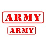 #7: Isee360 Indian Army Reflective Car Decal Windows Hood Sides Sticker-2 Stickers Include Standard Size For Bike & Car