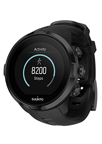 Suunto Spartan Sport Armbanduhr und Handgelenk Herzfrequenz Monitor &-Handschuhe Handschuh Bundle, Herren Damen, All Black