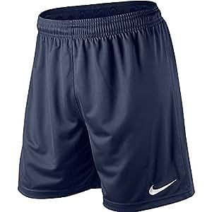 Nike Herren Shorts Park II Knit mit Innenslip, marine/weiß S