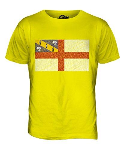 CandyMix Herm Bandiera Scarabocchio T-Shirt da Uomo Maglietta Giallo Limone