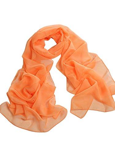 Damenschal Sommer Chiffon Schal Strand Schals Chiffonschal One Size Orange