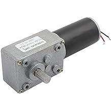 sourcingmap® DC 24V 7000RPM/14RPM 8mmx14mm de Eje el Motor Turbo reductor de tornillo sin fin de energía eléctrica