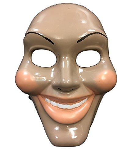 Purge Halloween Für Kostüme (The Purge Original Gesicht Film Maske - Halloween Kostüm geschnürt Kostüm - universell Größe - Hart)