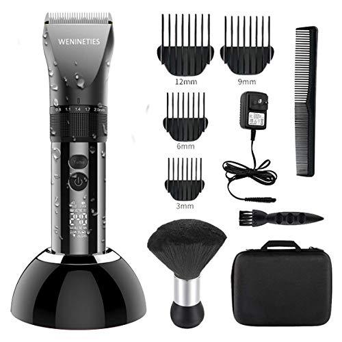 WENINETIES Haarschneidemaschine Profi Haarschneider Wiederaufladbare Haartrimmer für Männer und Kinder mit LCD Anzeige