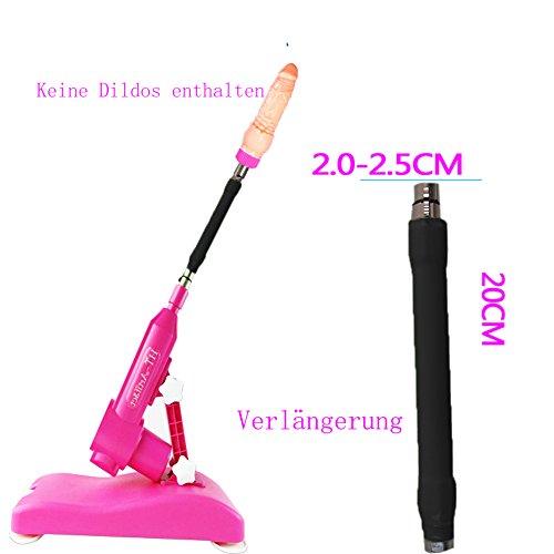 LUOOV Automatische Sex-Maschine,Männer Masturbator Vagina & Ass, Real Pussy Bullet Vibrator Penis Nachbildung Dildo (Verlängerung 20cm für Sex-Maschine)