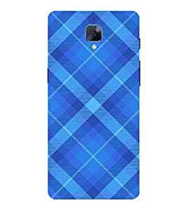 PrintVisa Simple Blue Check Pattern 3D Hard Polycarbonate Designer Back Case Cover for OnePlus 3 :: OnePlus Three