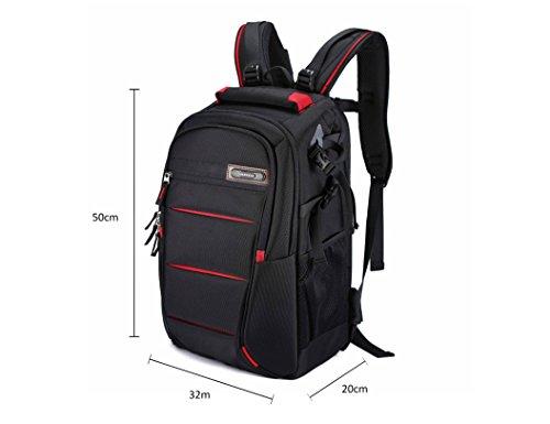Beaspire Camera Bag Huge Backpack Full Open-L