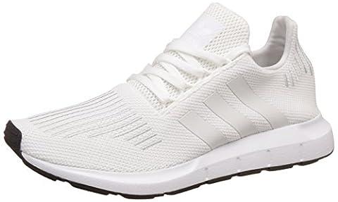 adidas Unisex-Erwachsene Swift Run Laufschuhe, Weiß (Footwear White/Rose Crystal White/Core Black), 43 1/3 EU