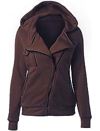 Nanafast - Sweat à capuche - Duffle coat - Manches Longues - Femme Rouge rouge X-Large