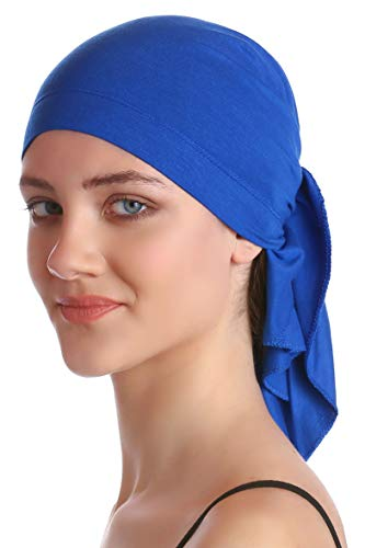 Deresina Headwear Unisex Baumwolle Bandana Fur Haarverlust (Royal Blue)