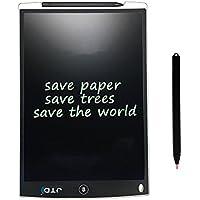 JTD Tablet de Escritura LCD Tablero de Dibujo Electrónico Memo Pad Mensaje Tablón para Clase, Oficina, Casa (12 Pulgadas, Blanco)