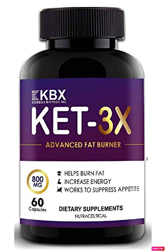 Korbax Biotech Inc. Fat Burner for Men and Women and Weight Loss Capsules Supplements. Keto Formula/Lean Cutz Body. Slimming Tablet/Pills. Keto Friendly (60 Capsules) Fat Cutter