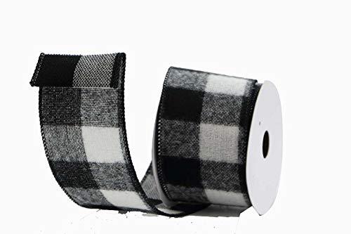 Renaissance 2000 Schleifenband, 6,4 cm, Schwarz/Weiß