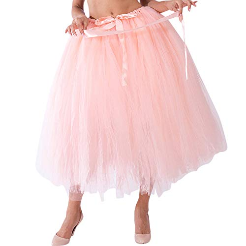 olide Tutu KnöChellangen Rock Brautjungfer Prinzessin Rock Bubble Umstandsrock Erwachsene Tutu Tanzen Rock Ballett Tanzkleid Ballkleid Abendkleid Gelegenheit ZubehöR ()