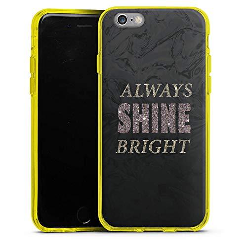 DeinDesign Silikon Hülle Case Schutzhülle für Apple iPhone 6s Brille Shine Glitter