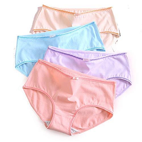 yutu 4 Loaded Underwear Damen Baumwolle Taille Keine Spur Baumwolle Student Girl High School Students Koreanische Version Von Shorts Kopf, H Kombination - XL -