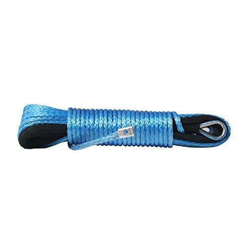 Pro-Rope 15,25m x 6,35mm (50ft. x 1/4Zoll) Starkes Synthetisches UHMWPE-Windenseil, 2900kg (6400lbs) Bruchfestigkeit, Blau