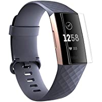 SO-buts Fitbit Charge 3 Schutzfolie, 9H Explosionsgeschützter Film, 2/3 Stücke TPU HD Vollständige Abdeckung Bildschirm Schutzfilm,für Fitbit Charge 3