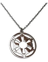 Star Wars inspirado. Guerra De Las Galaxias. El collar colgante emblema Imperio Gal‡ctico