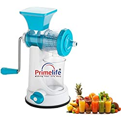 Primelife Plastic Fruit and Vegetable Juicer, Blue Color (Prime-Blue-03)